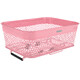 Electra Linear QR Mesh Bike Basket Low Profile with Net pink
